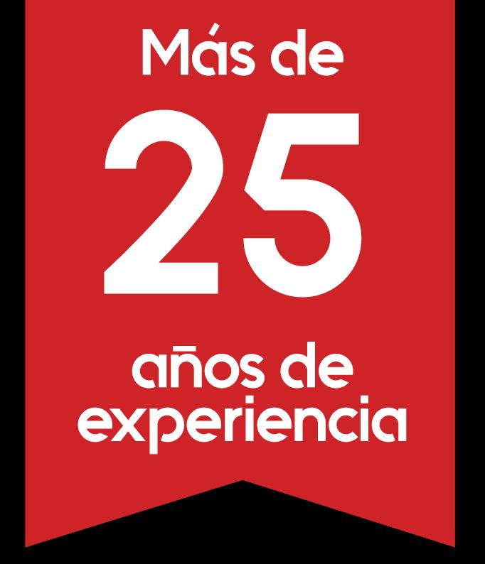 25 Años de Experiencia