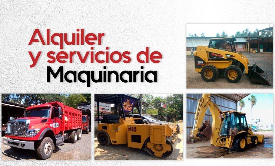 Alquiler y servicios de maquinaria